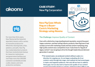 [Case Study] New Pig Goes Whole Hog on a Buyer-Centric Marketing Strategy using Akoonu