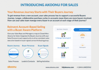 [Feature Sheet] Akoonu for Sales