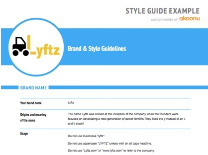 Your [EXAMPLE] Style Guide