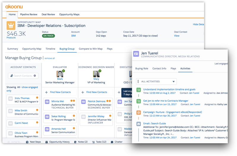 Manage contacts and leads in every deal with easy to use UI