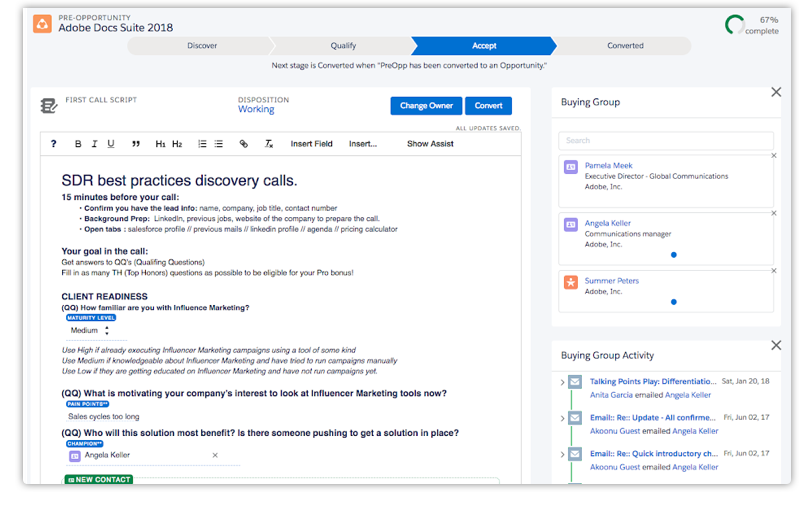 Doc.IA note-taking enables streamlined notes that automatically sync to salesforce fields