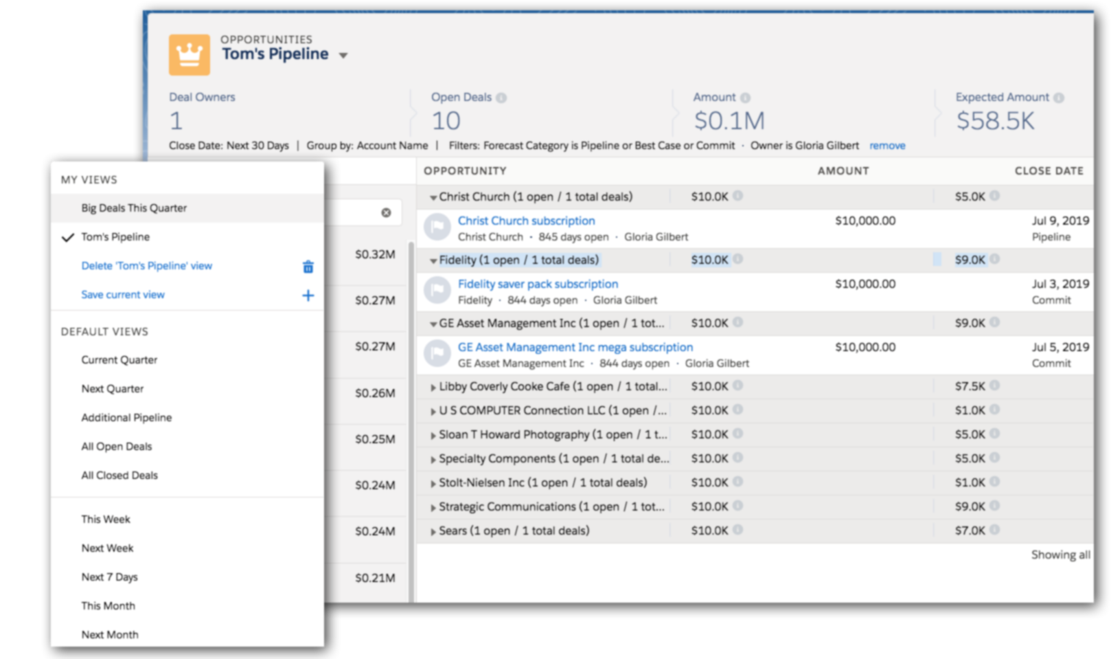 Focused and efficient pipeline reviews with configurable views